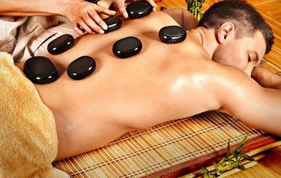 Hot lava stones massage